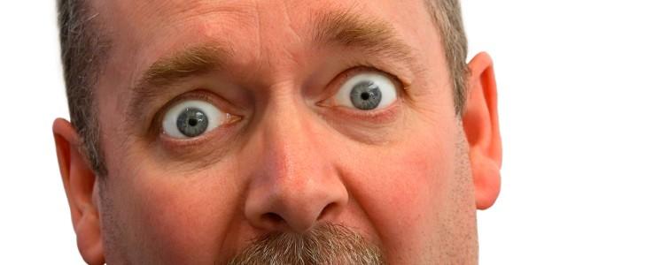Man looking shocked