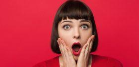 Shocked looking woman