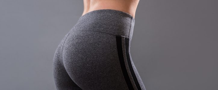 Bum of woman in gym pants